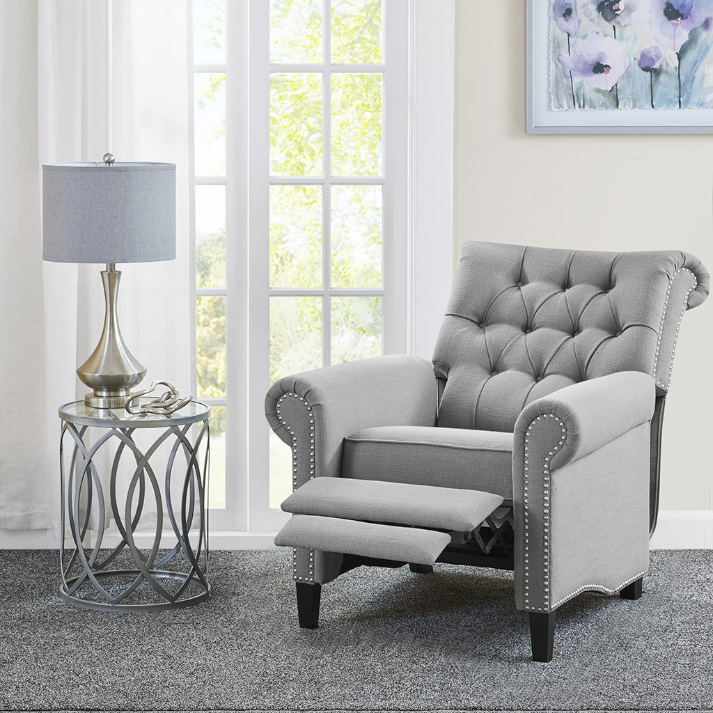 Madison Park - Aidan Recliner Chair - Grey - See below