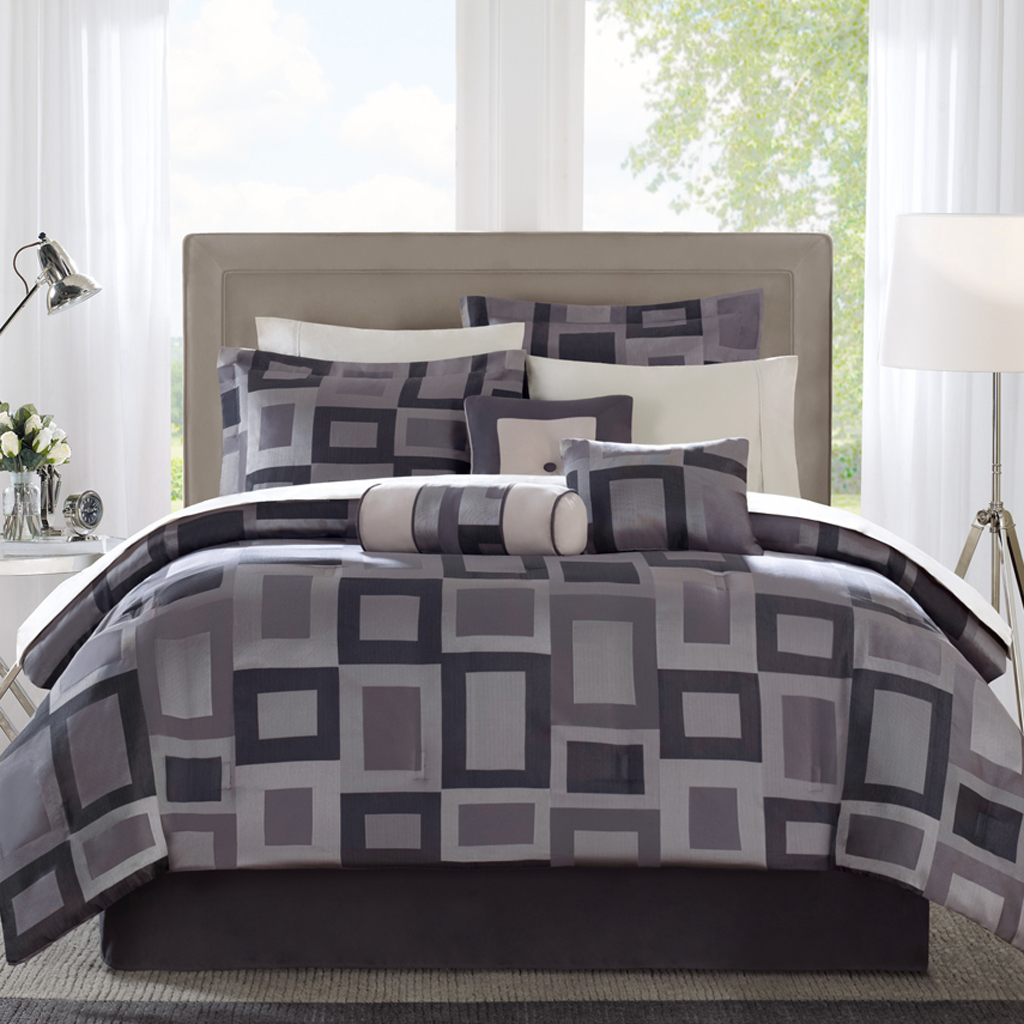 Avenue 8 - MS Cubed 7 Piece Comforter Set - Multi - King