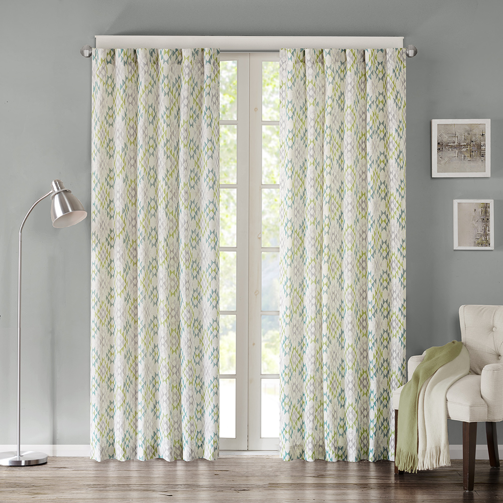 "INK+IVY - Tuscany Window Curtain - Blue - 95"" Panel"