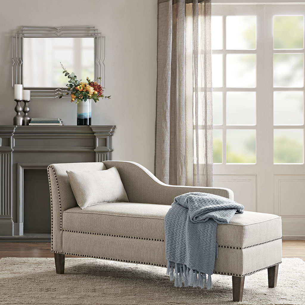 Madison Park - Trinity Accent Chaise - Natural - See below
