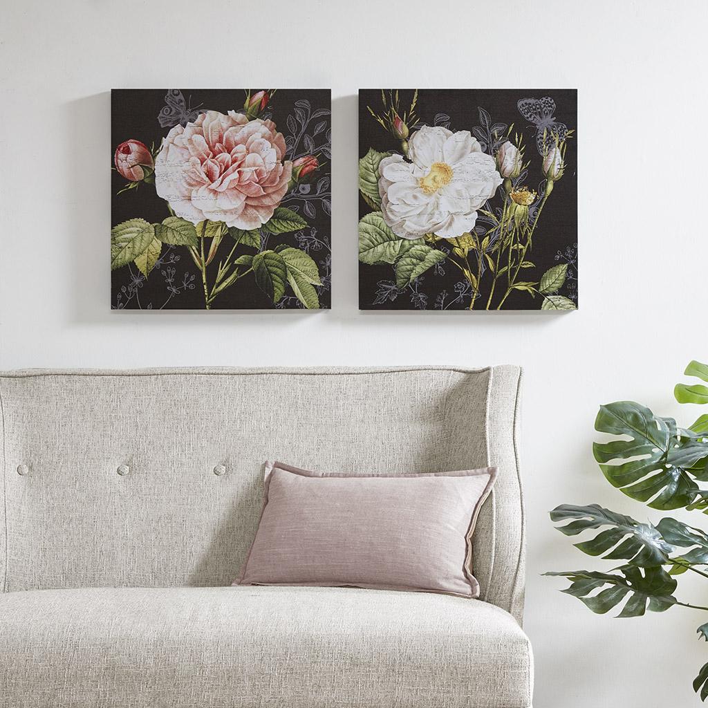Madison Park - Restoration Rose Printed Canvas 2 Piece Set - Multi - See below