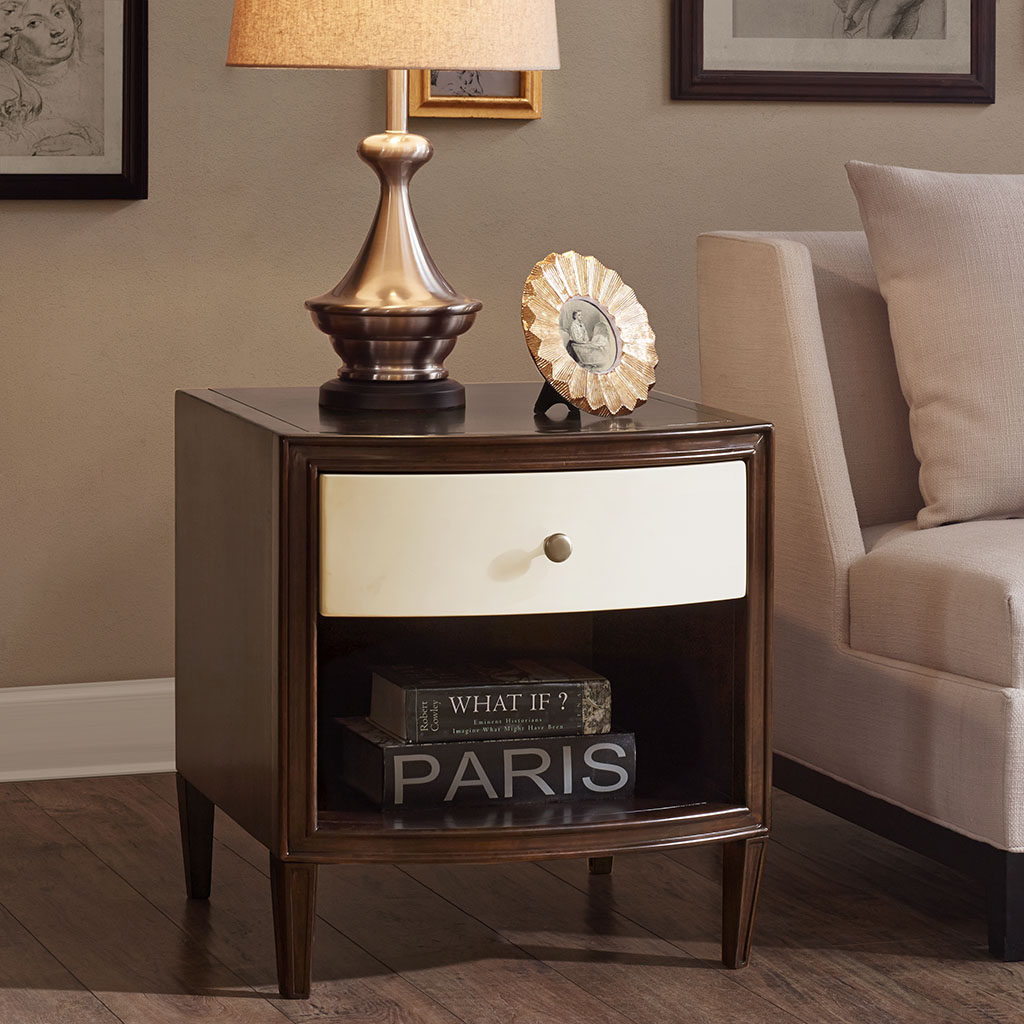 Madison Park Signature - Dunkin End Table - Morocco Brown/Ivory - See below