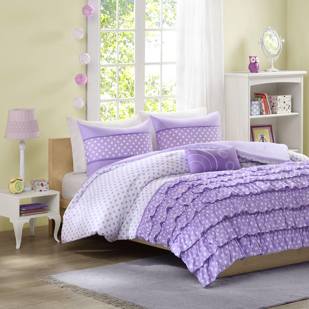 Mi Zone - Morgan Comforter Set - Purple - Twin/Twin XL