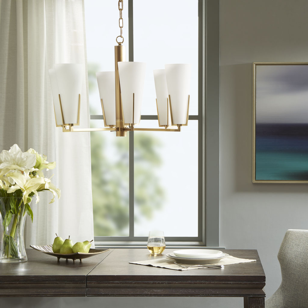 Madison Park Signature - Avignon Chandelier - White/Gold - See below