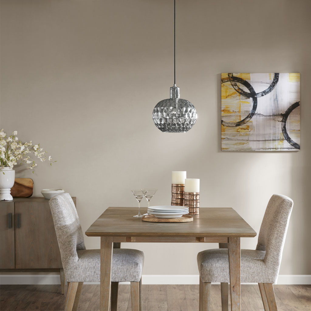 Madison Park - Dayton Glass Pendant Light - Grey - See below