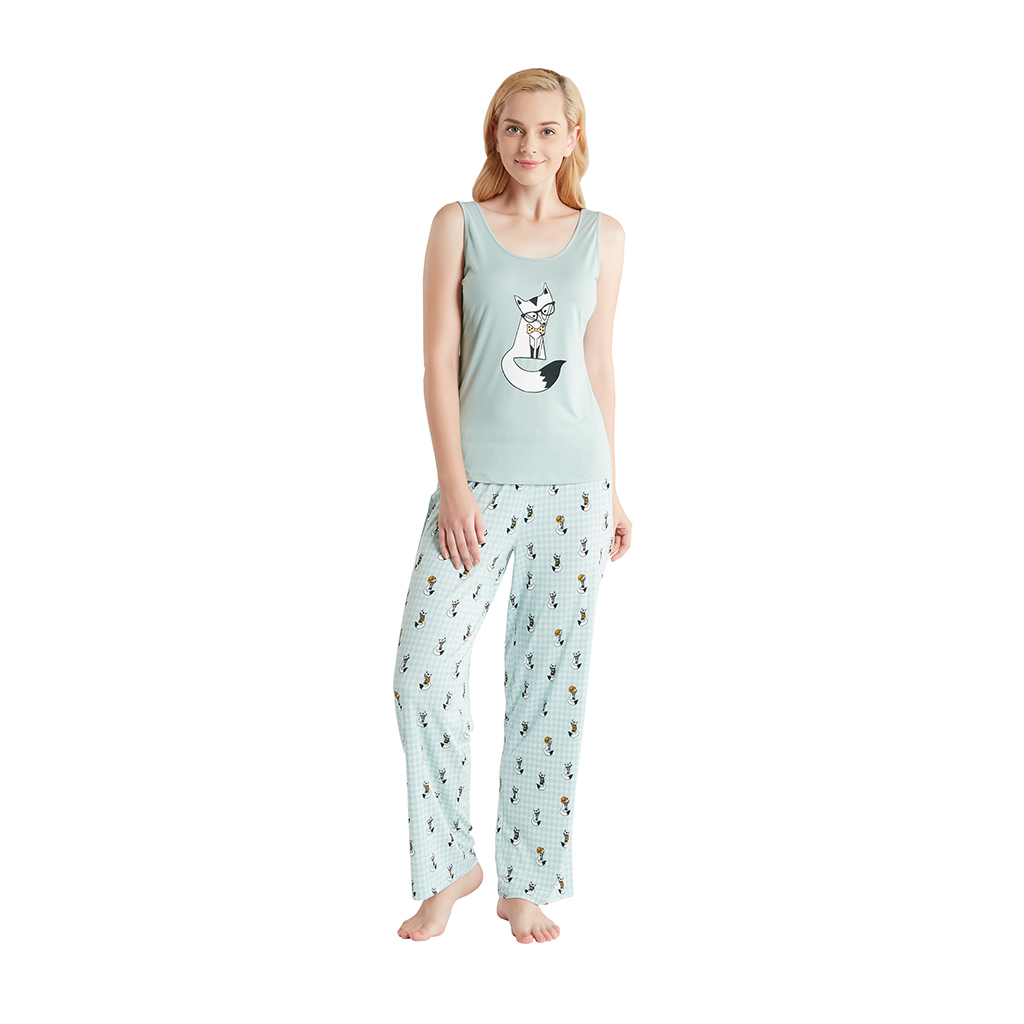 Jammies by Hipstyle - Freida 3 Piece Pajama Set - Mint - Medium