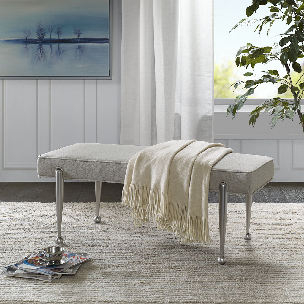 Madison Park Signature - Grace Bench - Gray - See below