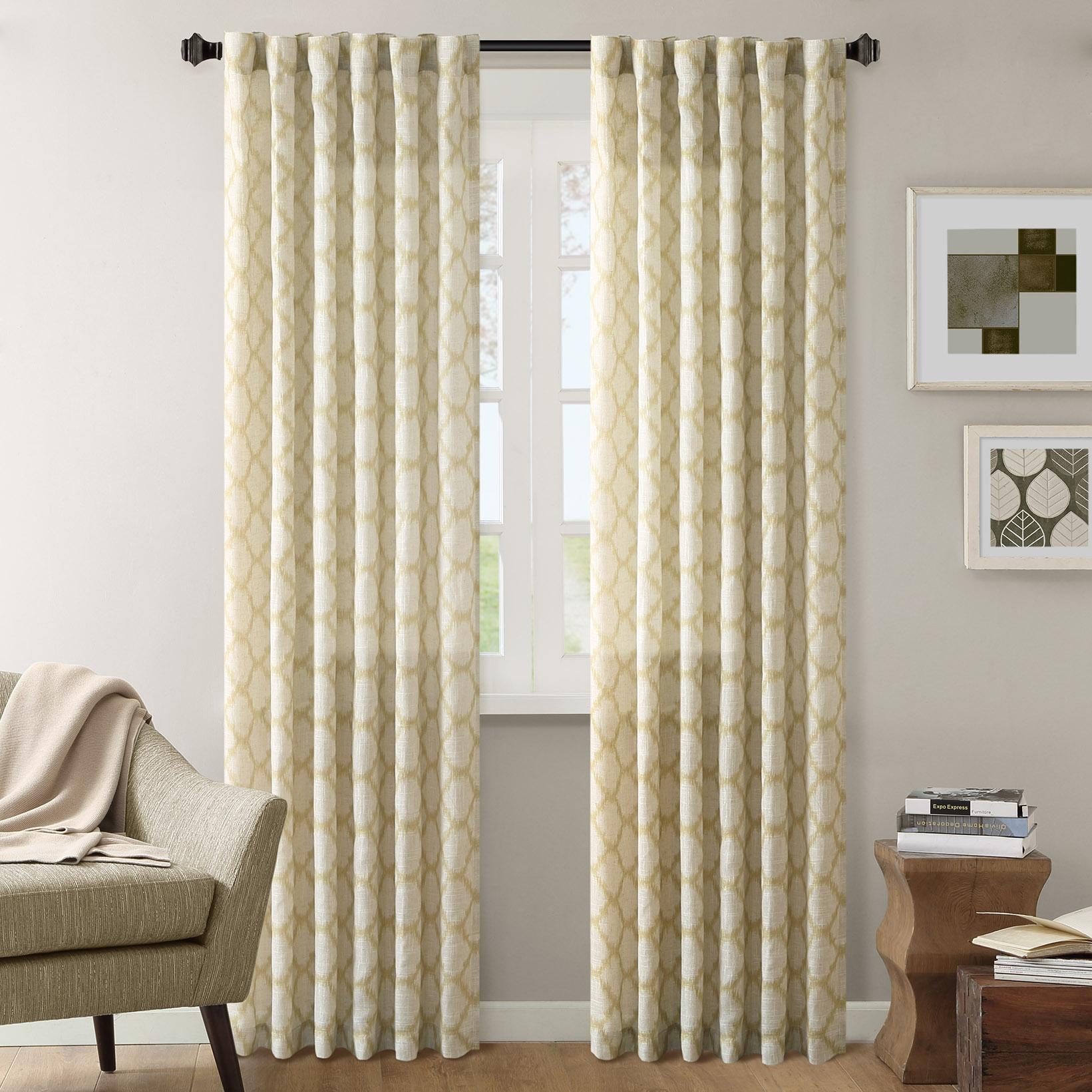 "INK+IVY - Nakita Window Curtain - Yellow - 95"" Panel"