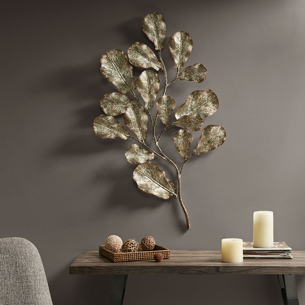 Madison Park - Darlow Metal Wall Decor - Gold - See below Metal