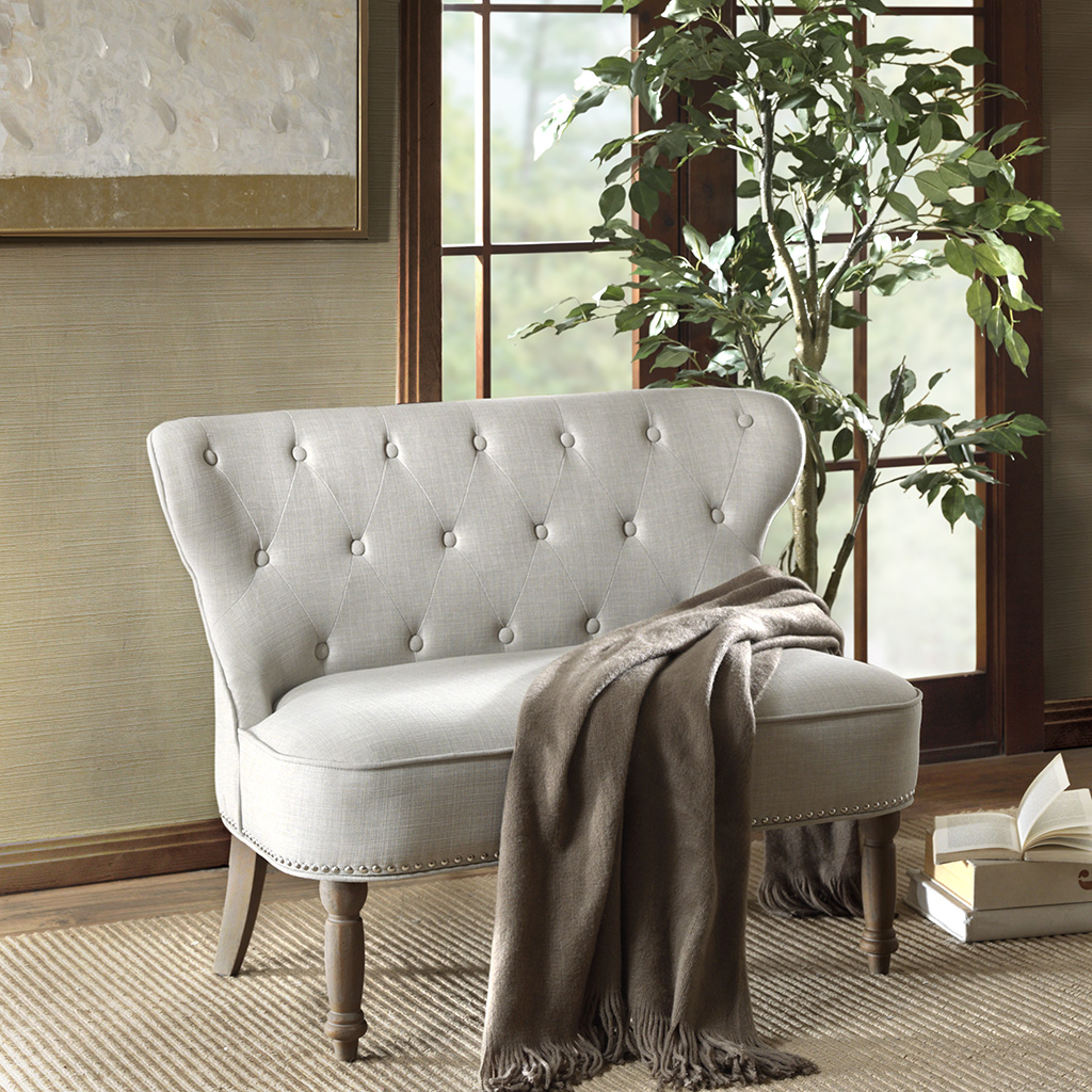 Madison Park - Stanford Settee - Taupe - See below