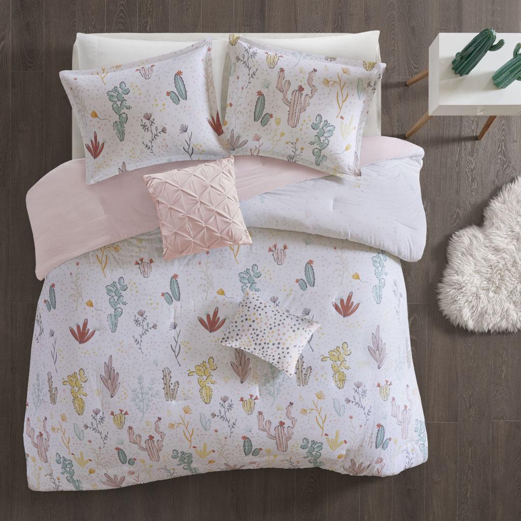 Urban Habitat Kids - Desert Bloom Cotton Printed Comforter Set - Red Multi - Twin