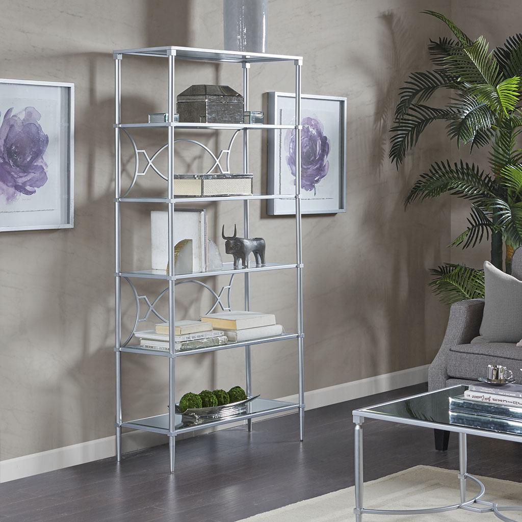 Madison Park Signature - Turner Shelf - Silver - See below