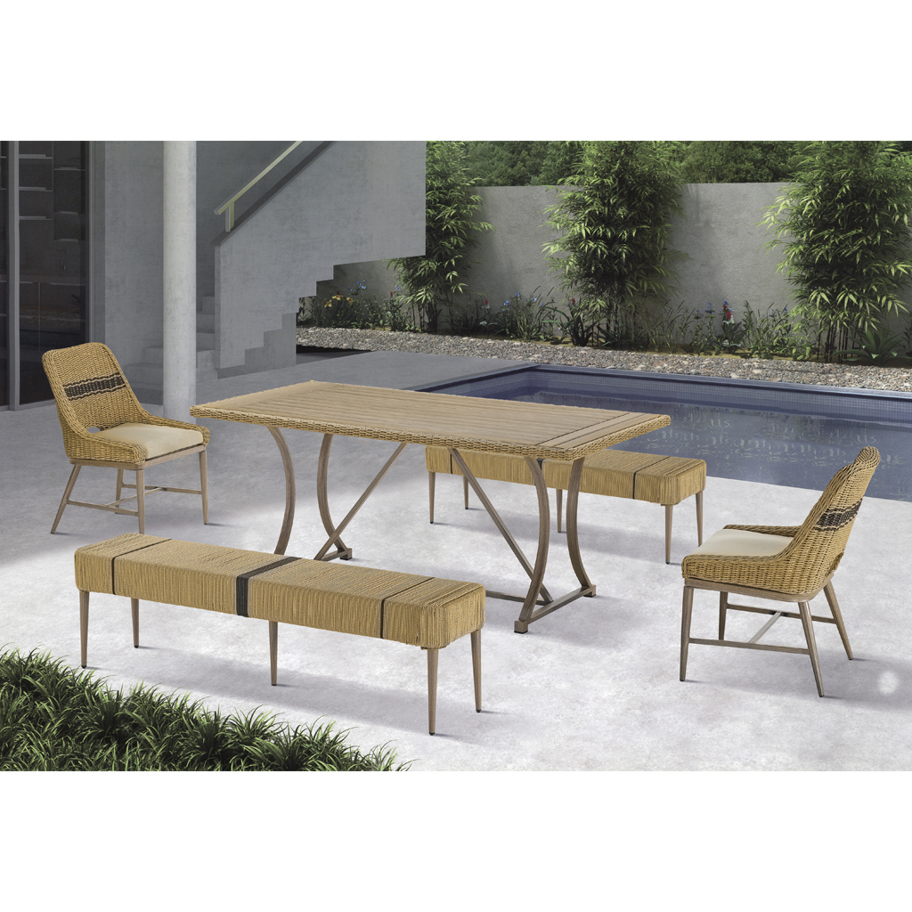 Madison Park - Venice Outdoor Patio Dining Table - Natural - See below