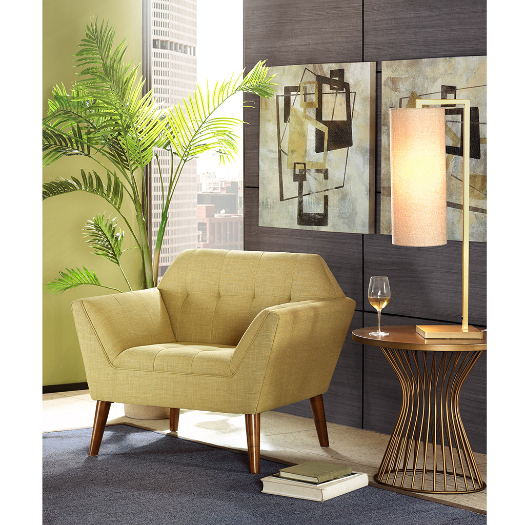 INK+IVY - Newport Lounge - Pale Green - See below 100% polyester,Solid wood leg + upholstery,all foam