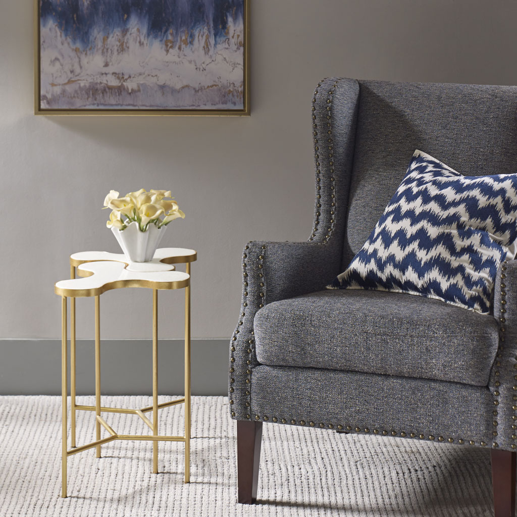 Madison Park - Jigsaw Accent End Table (set of 2) - Gold - See below