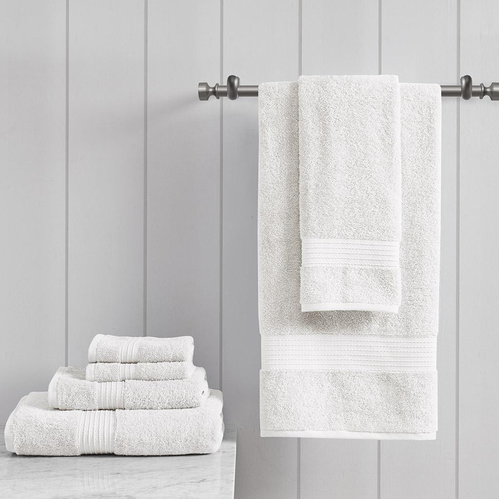 Madison Park - Organic Cotton Towel Set - White - See below