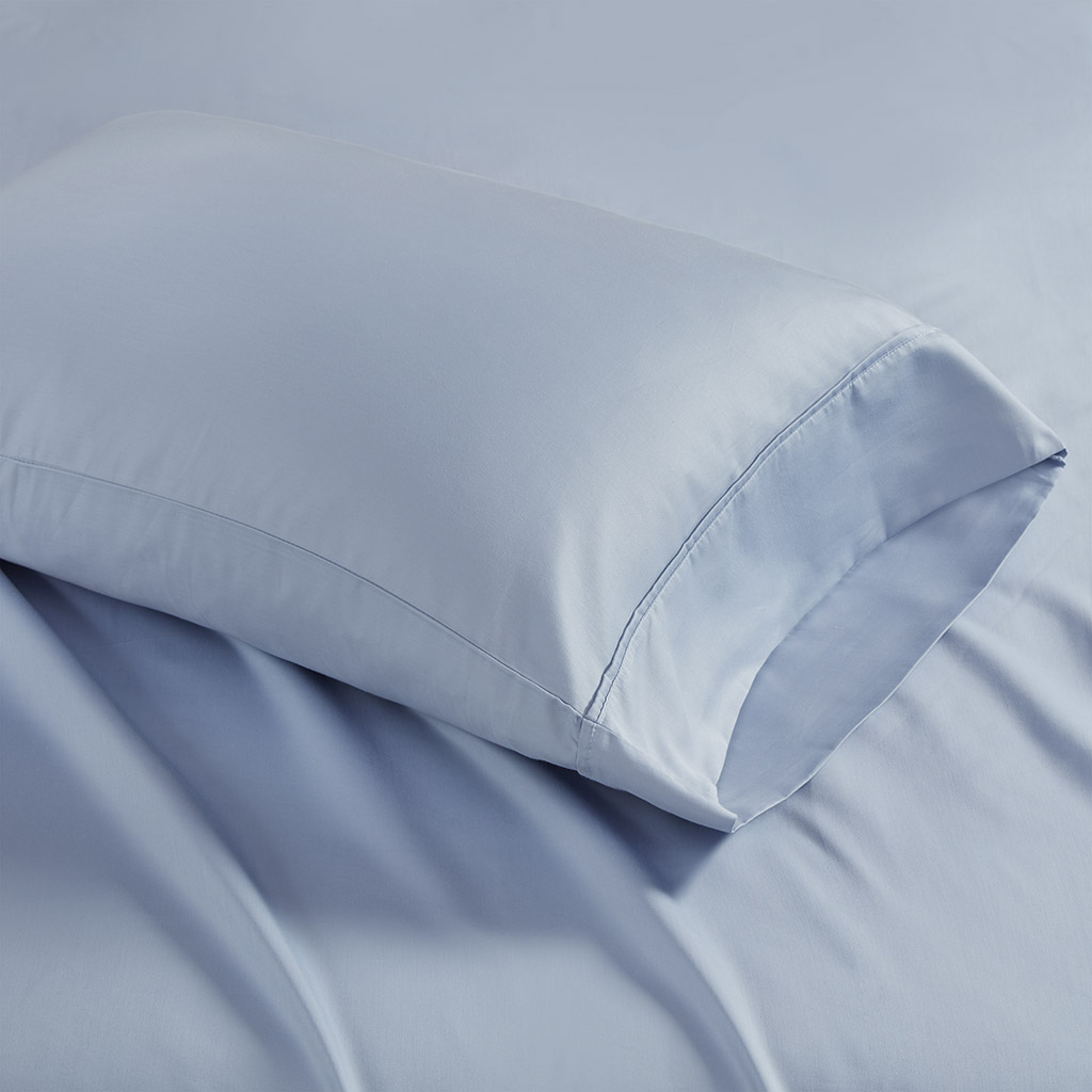 Madison Park - 1500 Thread Count Cotton Rich Pillowcases - 2 Pack - Blue - King
