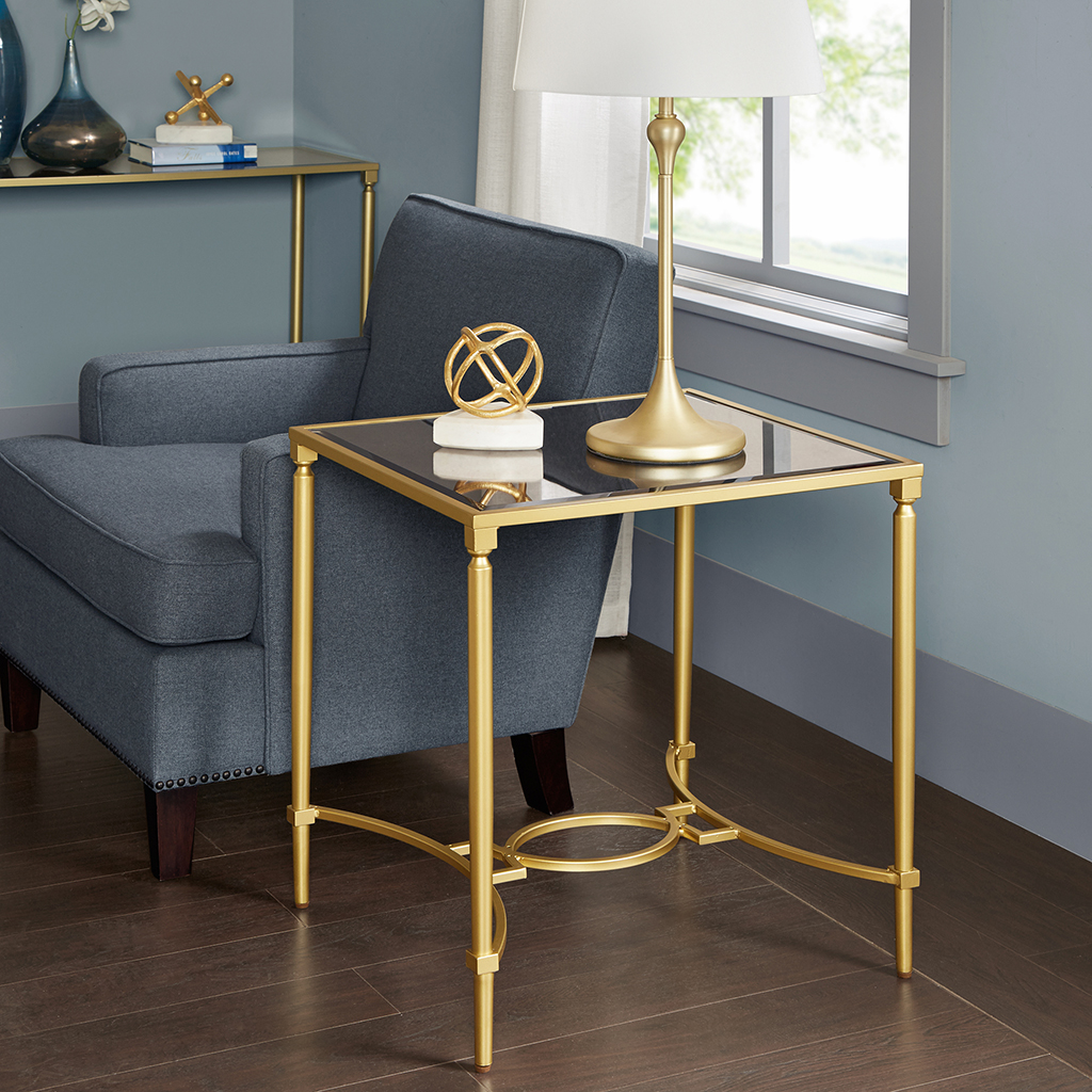 Madison Park Signature - Turner End Table - Antique Gold - See below