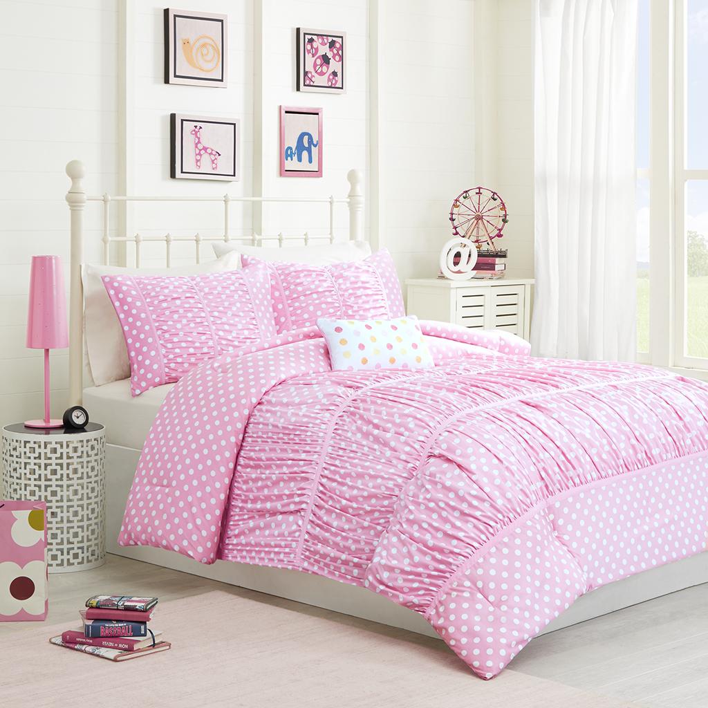 Mi Zone - Lia Comforter Set - Pink - Twin/Twin XL