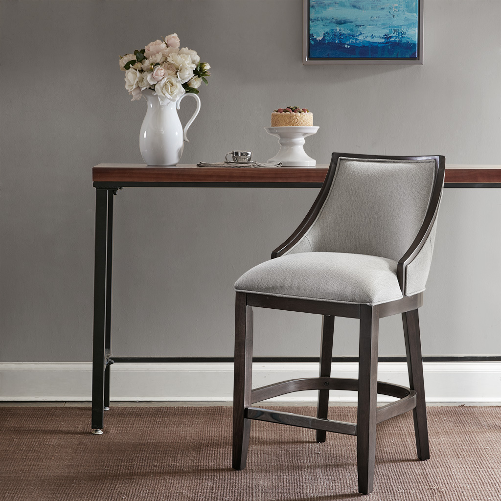 Madison Park - Rory Counter Stool - Cream/Brown - See below