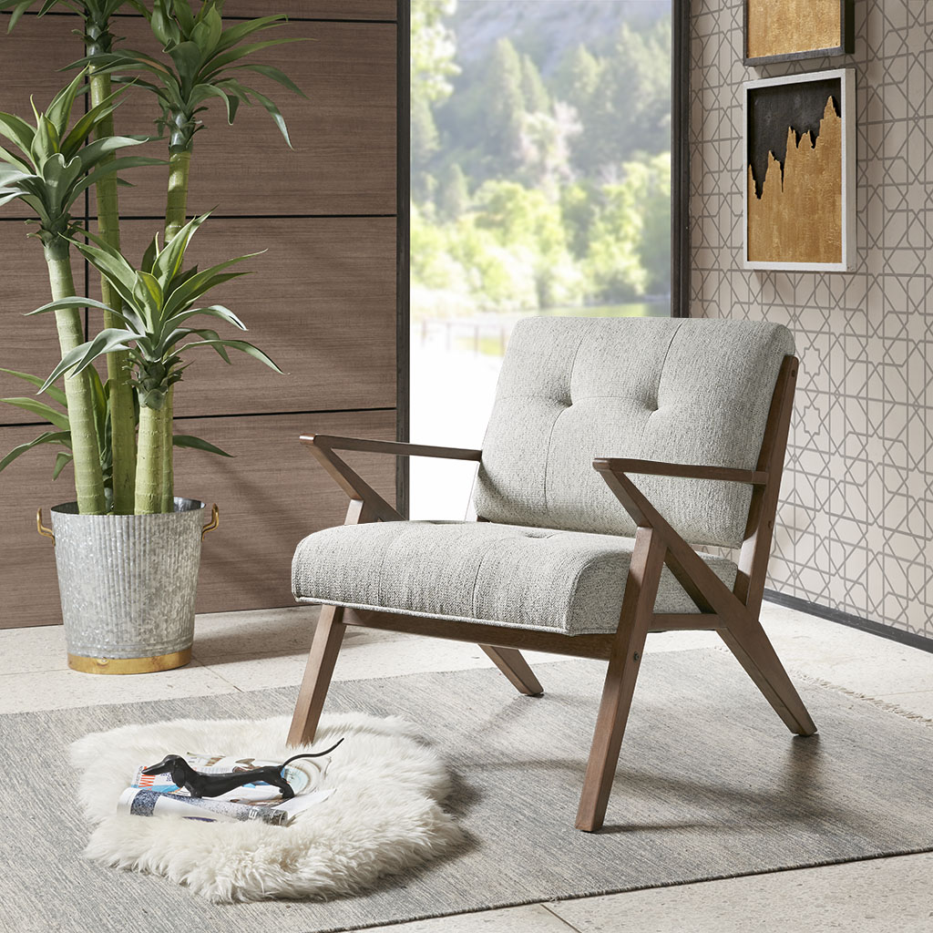 Frame Composition: Rubber Solid wood  Leg Material: Rubber Solid wood  Arm Material: Rubber Solid wood  Fabric Composition: 100% Polyester  Cushion or Upholstery Fill Material: Foam  Wood Finish: Pecan