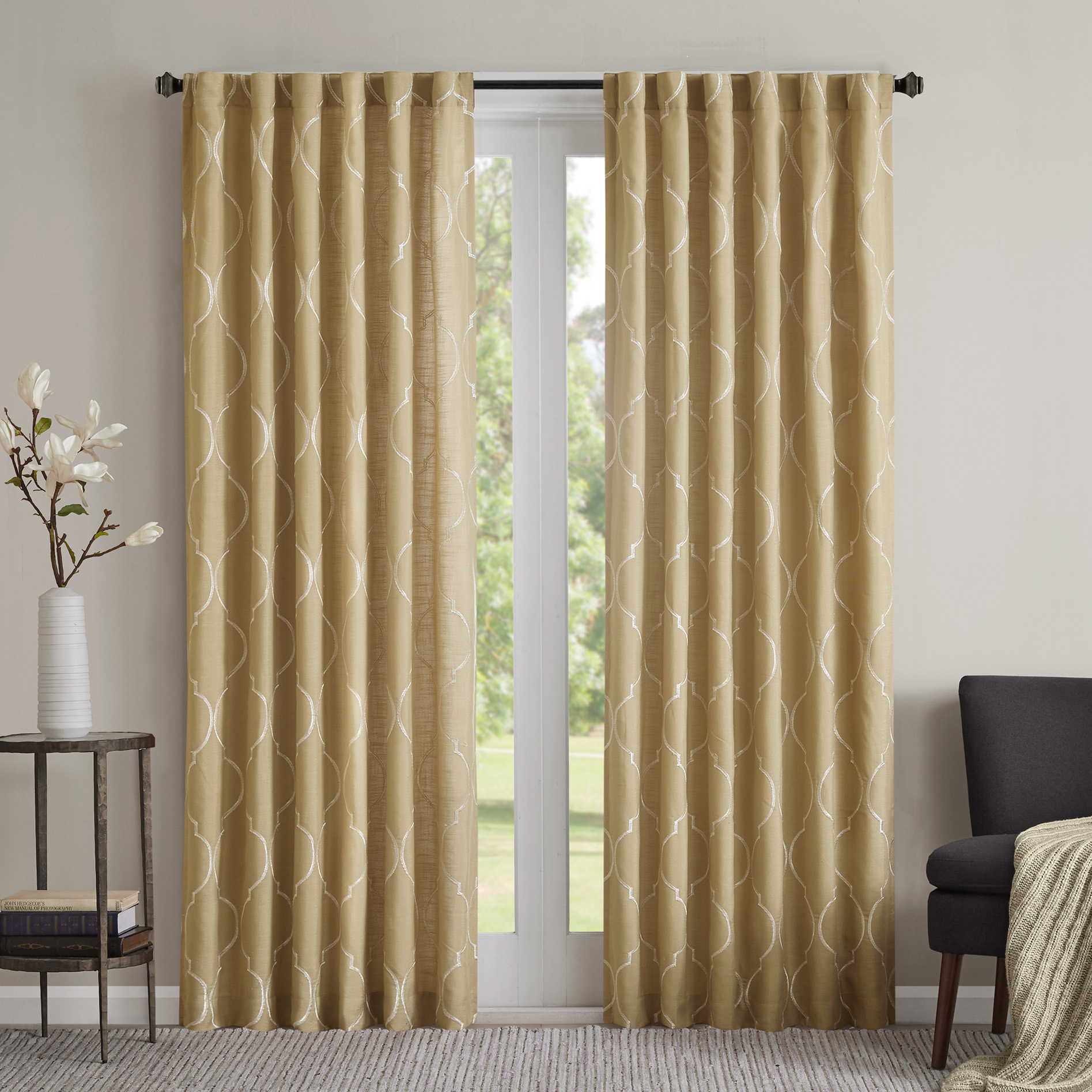 Madison Park - Lexi Window Curtain Panel - Yellow - 50x84
