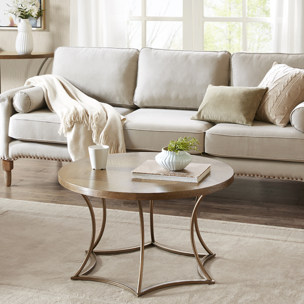 Madison Park - Olivia Coffee Table - Light Brown - See below