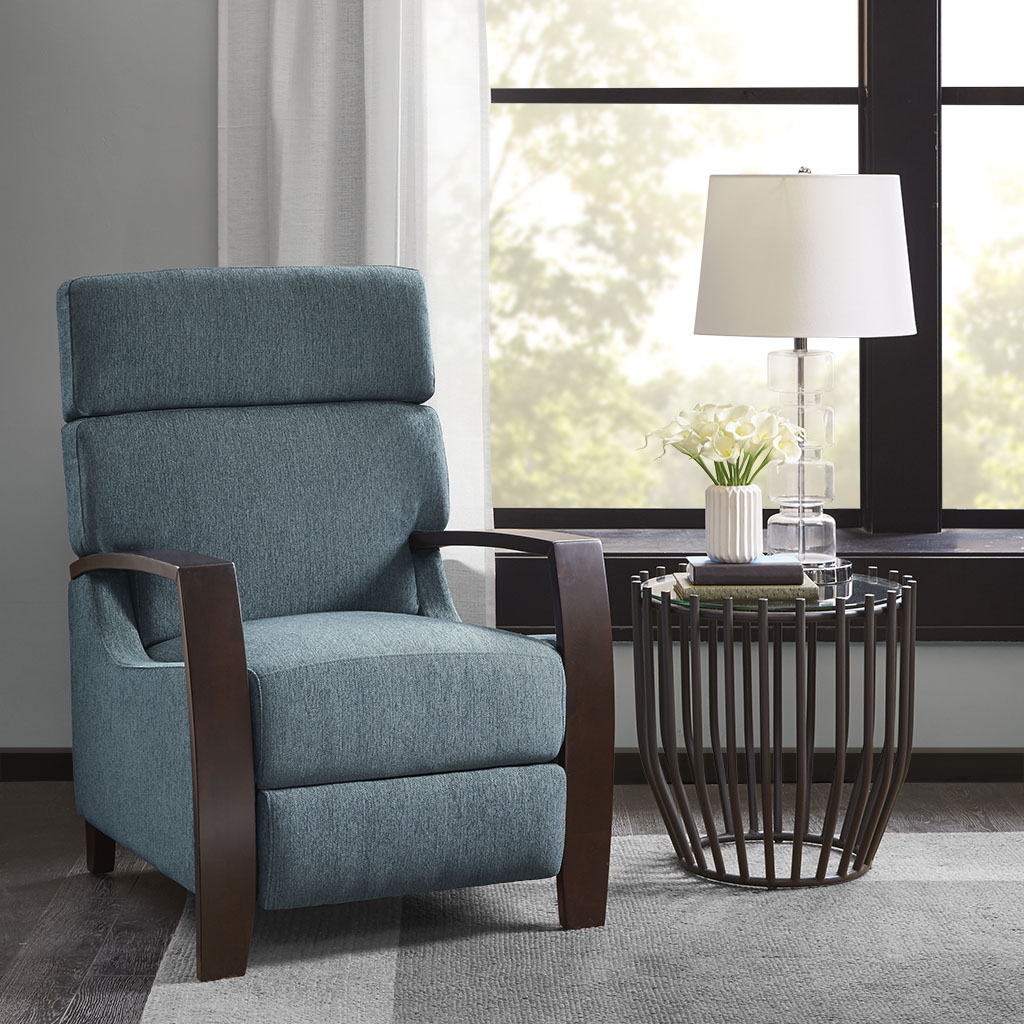 Madison Park - Katniss Push Back Recliner - Blue - See below