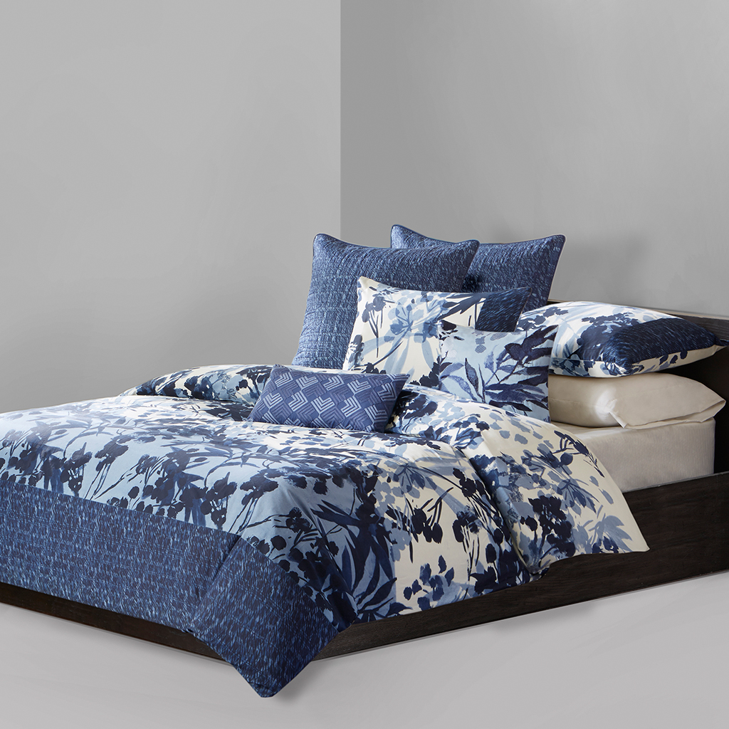 N Natori - Yumi Botanical Duvet Cover Mini Set - Multi - Queen