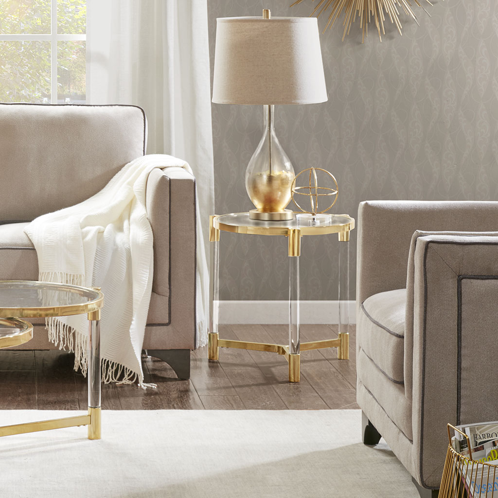 Madison Park - Bethel End Table - Gold - See below