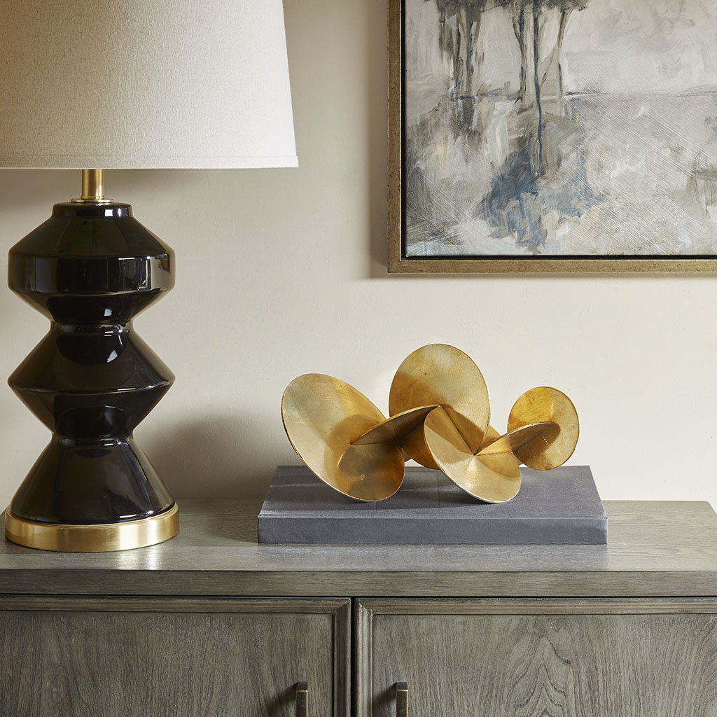 Madison Park - Disc Tabletop Decor - Gold - See below Iron