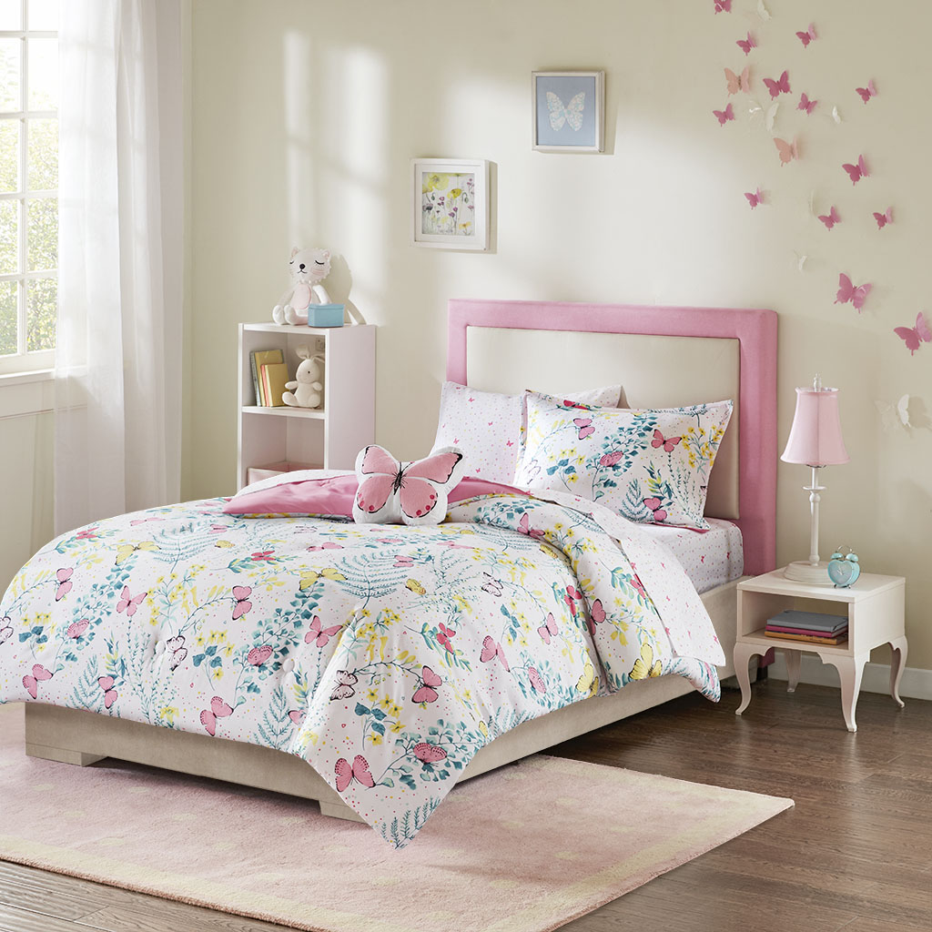 Mi Zone Kids - Cynthia Complete Bed and Sheet Set - Pink - Full