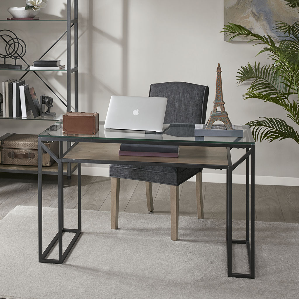 Madison Park - Pratt Writing Desk - Iron/Walnut - See below