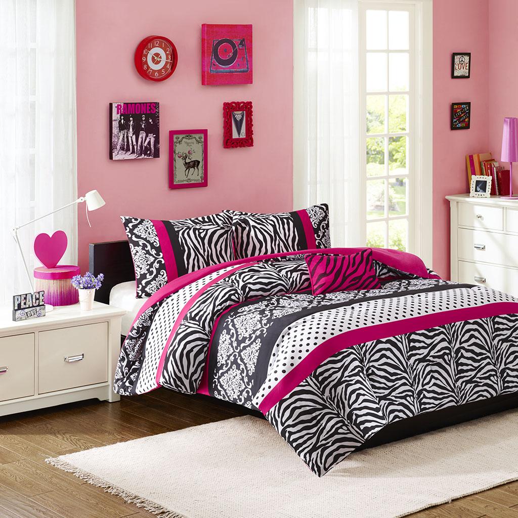 Mi Zone - Reagan Comforter Set - Pink - Twin/Twin XL