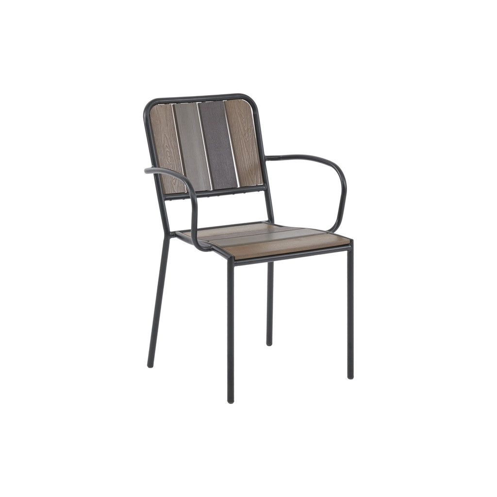 INK+IVY - Fargo Outdoor Arm Chair (set of 2) - Brown - See below Material: Steel Frame and Leg