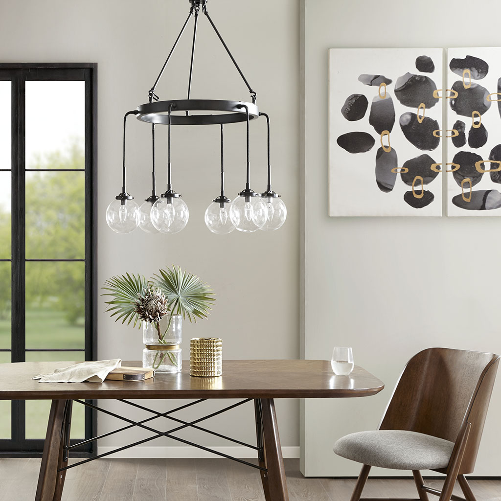 Material: 50% Metal, 40% Glass, 10% Others  Base Material: Metal  Shade Material: Glass  Base Finish: Black