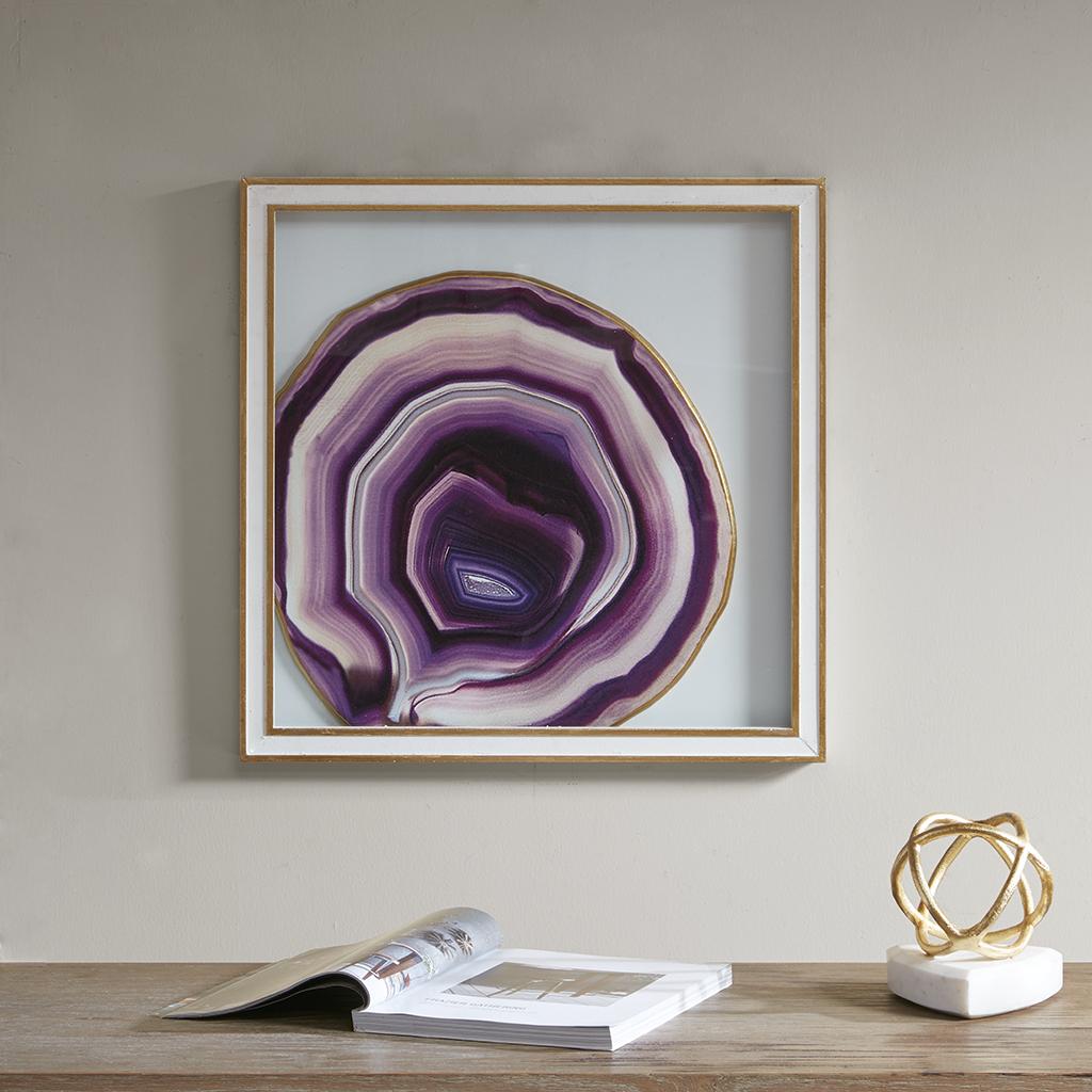 Madison Park - Gemstone Handmade Glass Wall Palque - Purple - See below