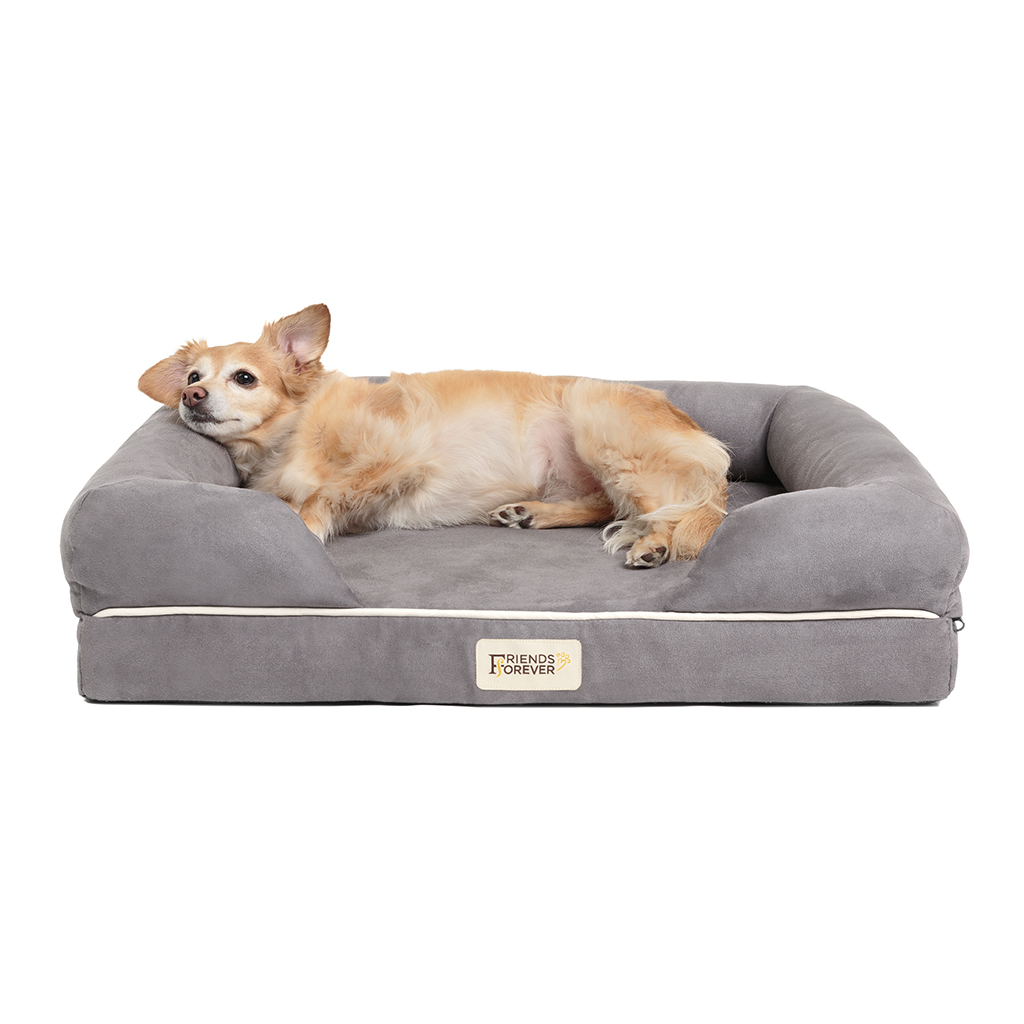 Friends Forever - Chester Pet Couch with Solid Memory Foam - Grey - 25x20+5