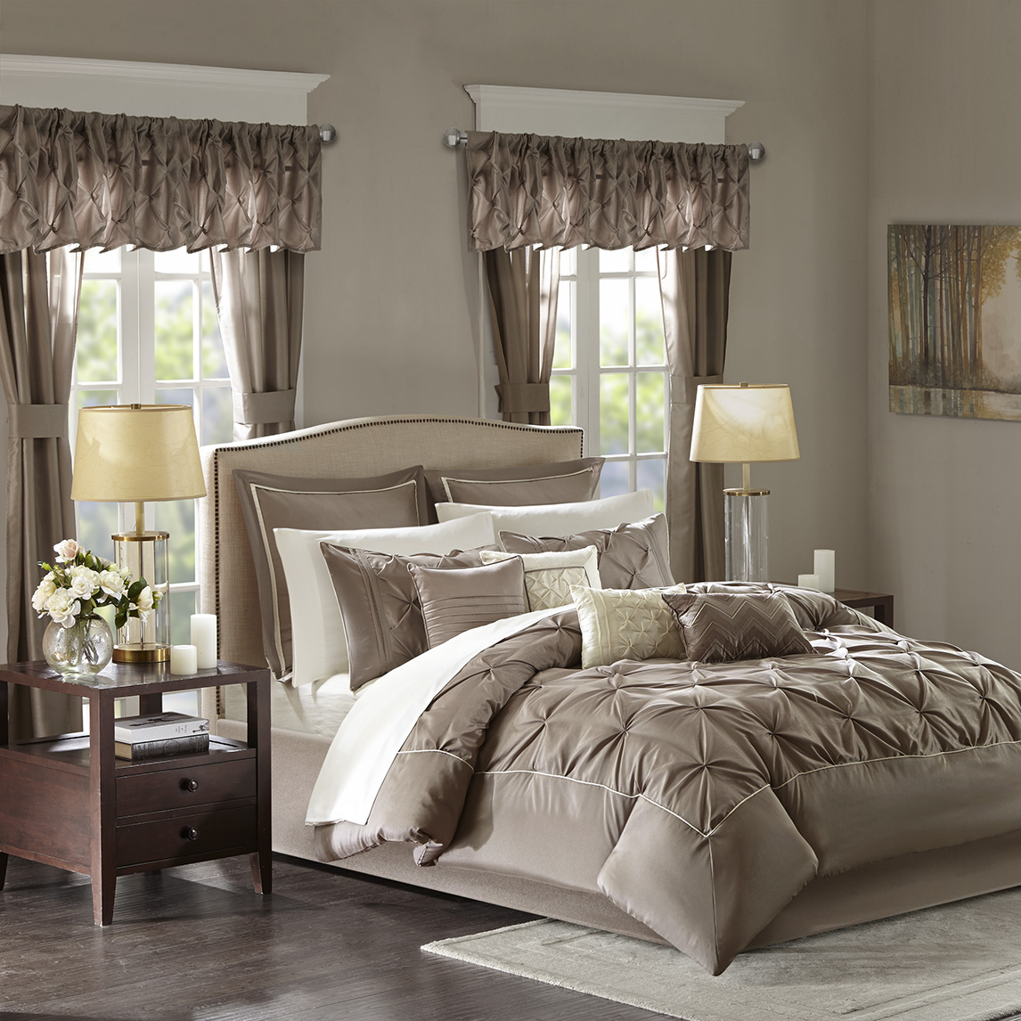 Madison Park Essentials - Joella 24 Piece Room in a Bag - Taupe - Cal King
