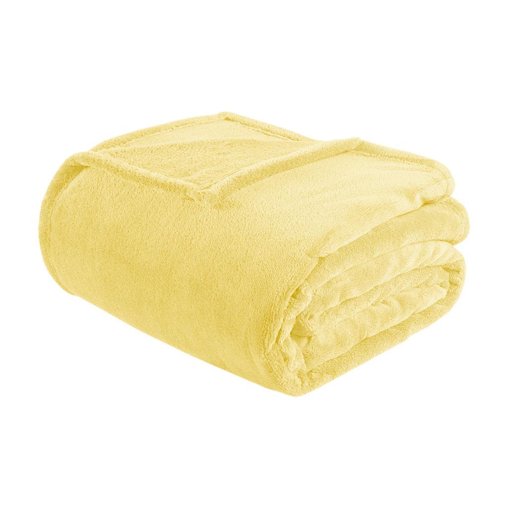 Intelligent Design - Microlight Plush Oversized Blanket - Yellow - Twin/Twin XL