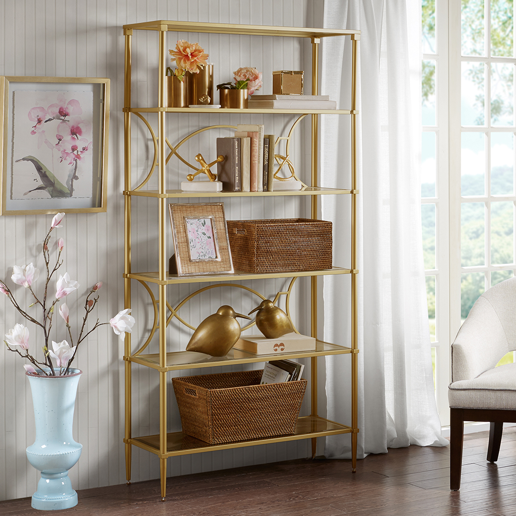 Madison Park Signature - Turner Shelf - Antique Gold - See below