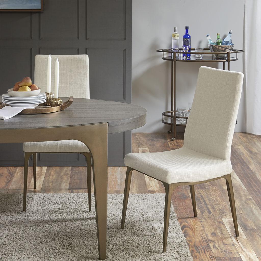 Material: Metal Legs, Upholstered Seat & Back, Metal Leg  Fabrication:100% Polyester  Filling:Foam  Metal Finish: M/W3 Antique Bronze