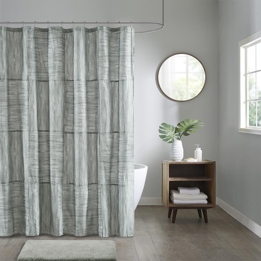 100% Polyester seersucker, pieced, polyester lining