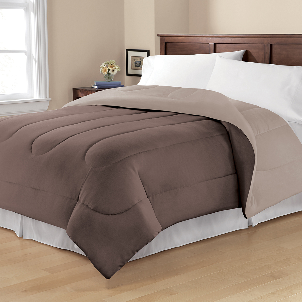 Avenue 8 - Jed Microfiber Reversible Comforter - Brown - Twin/Twin XL