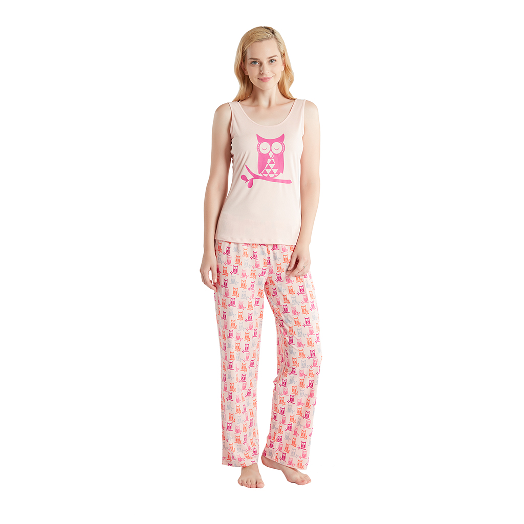 Jammies by Hipstyle - Elke 3 Piece Pajama Set - Peach - X Large