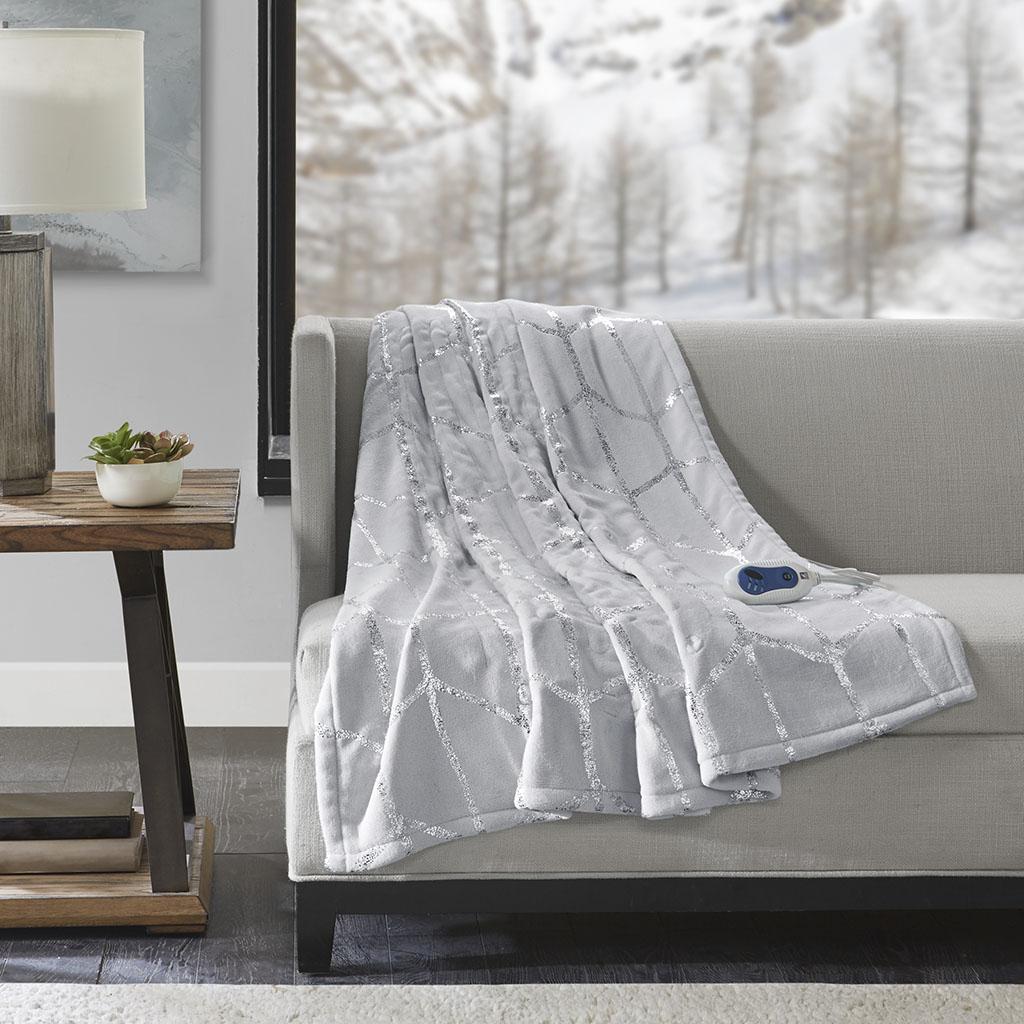 100% polyester metallic print Raschel