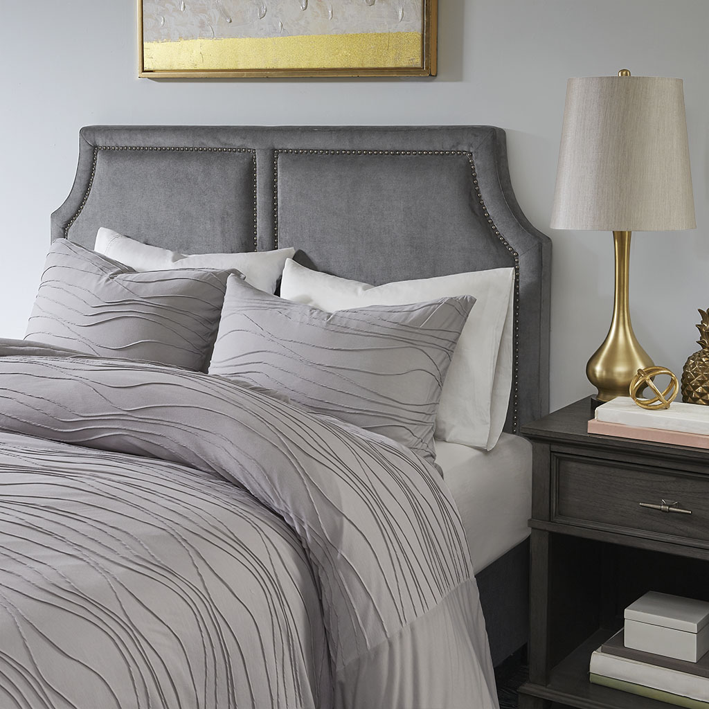 Madison Park - Burnett Queen Headboard - Dark Grey - See below