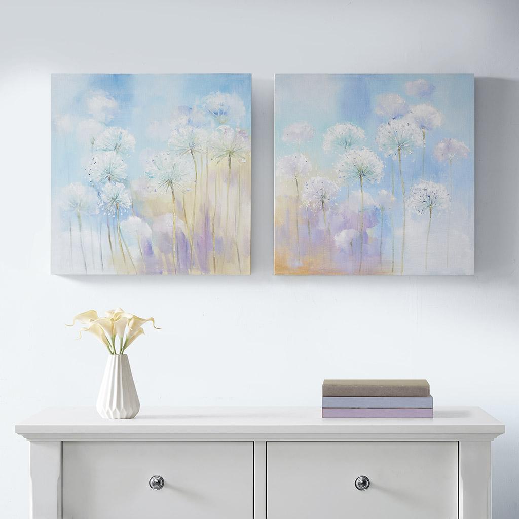 Madison Park - Dandelion Garden Printed Canvas with Gel Coat 2 Piece Set - Multi - See below