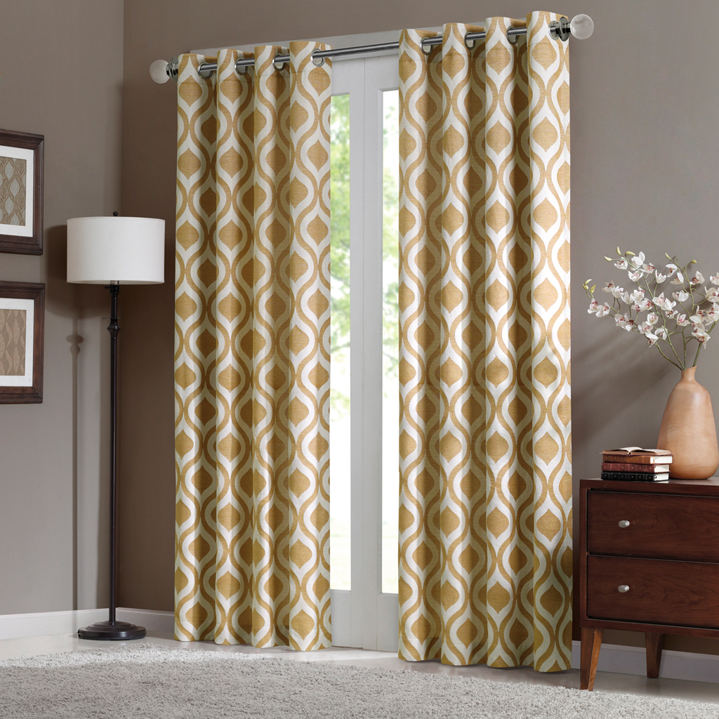 "Madison Park - Verona Window Curtain - Yellow - 95"" Panel"