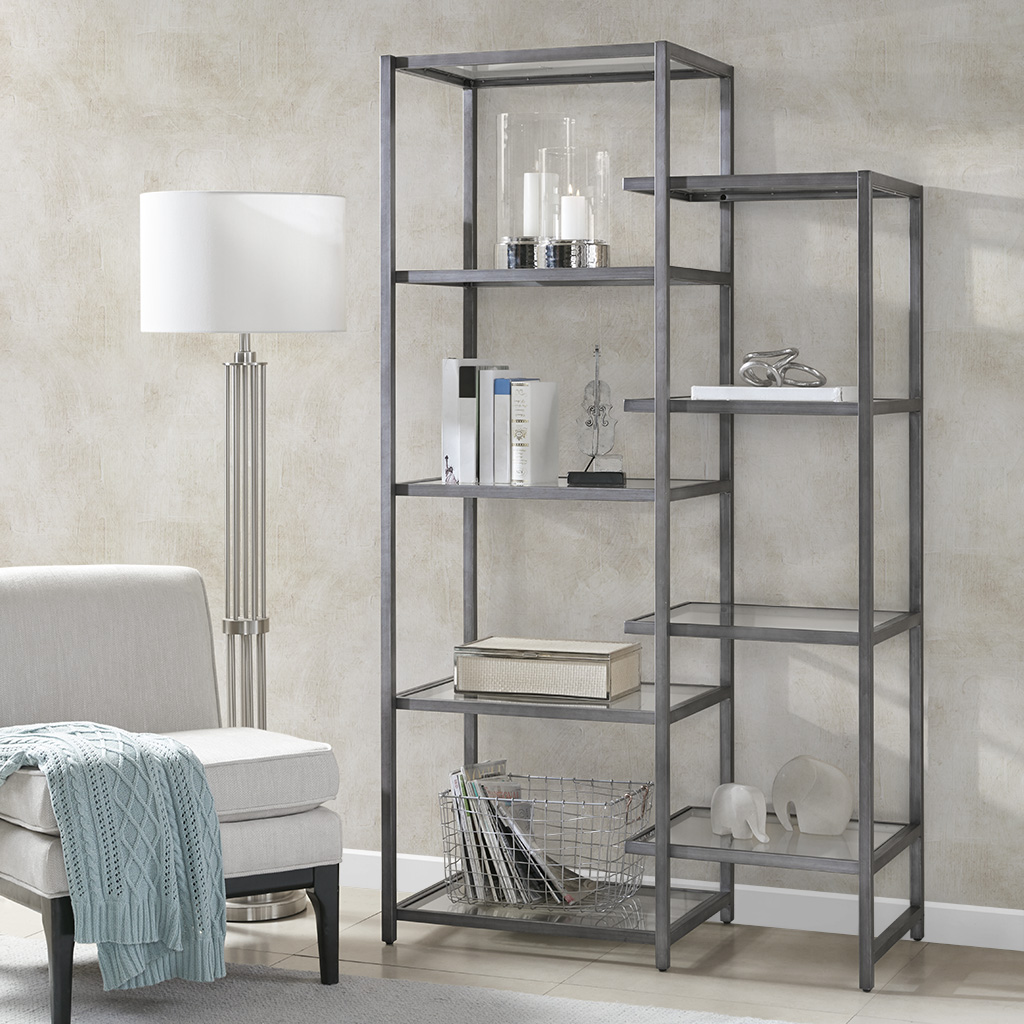 Madison Park Signature - Cliff Shelf - Dark Pewter - See below